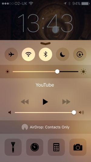 control center lock screen iphone