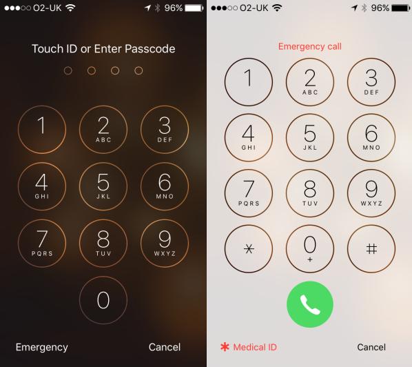medical id iphone emergency