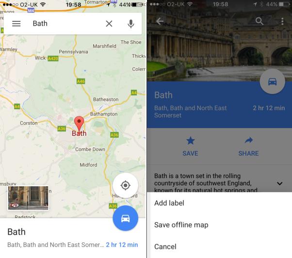 offline google maps iphone