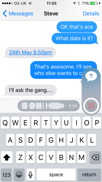 send voice clip in iphone messages