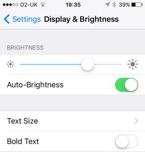 ios9 text size