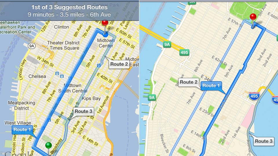 Google Maps Vs Apple Maps - iCloud Ditches Google Maps