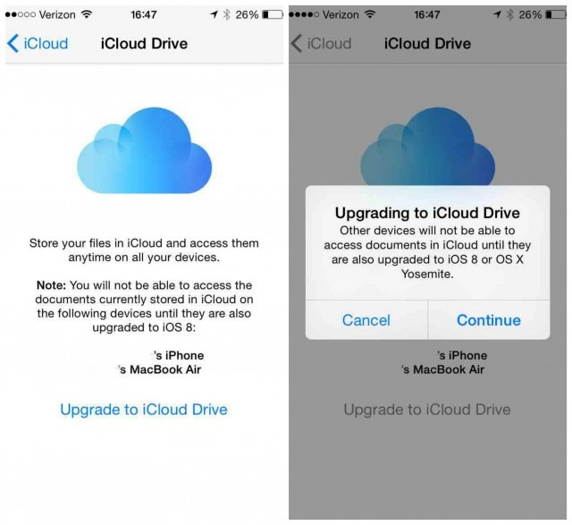 opt out of iCloud drive - Don't upgrade to iOS 8 Before Doing This
