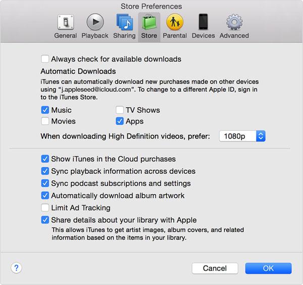 Automatic downloads - iCloud Login