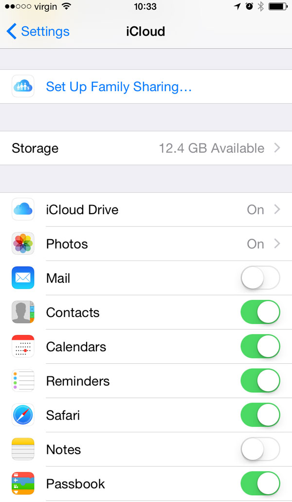 Backup iCloud on device