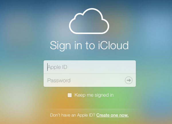 iCloud Account page - iCloud Account