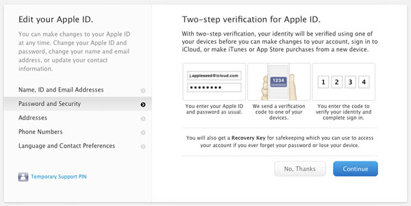 Verification for Apple ID