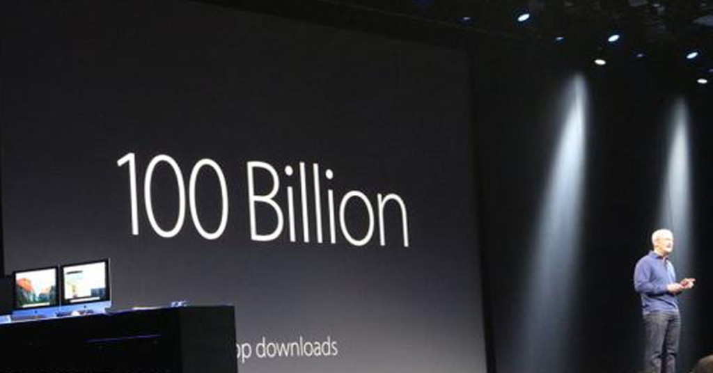 100 billion downloads