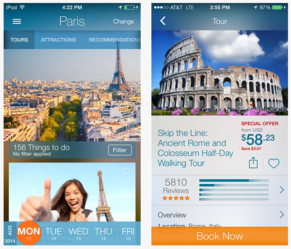 viator - Top 15 Apps To Save You Money And Help You When Traveling Abroad.