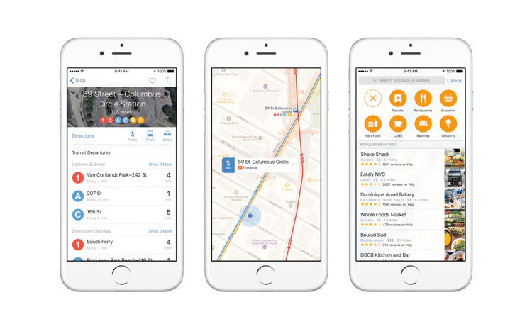 apple maps transit data - 13 Features That Make iOS 9 the Best Yet!