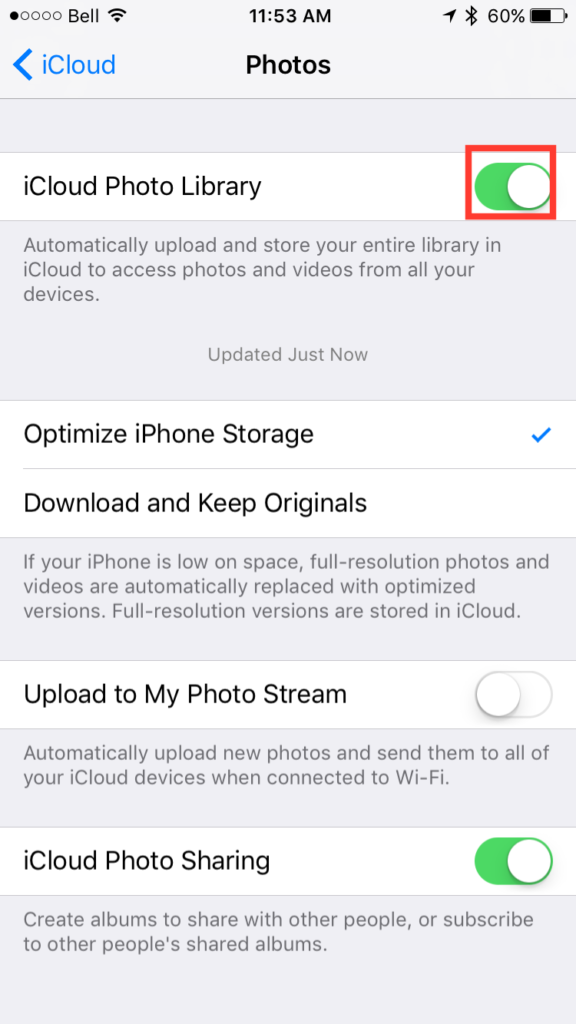 img  enable library 576x1024 - How To Access And Use iCloud Photo Library Online