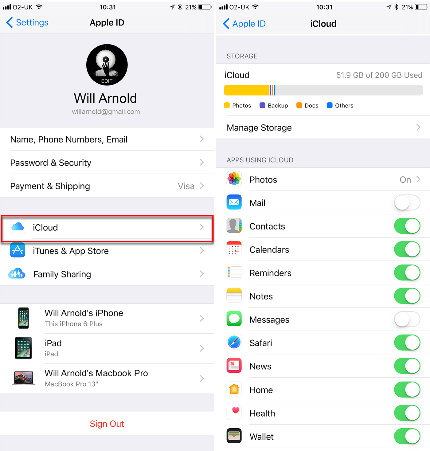 how to set up icloud on iphone